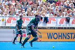 Krefeld, Germany, May 19: During the Final4 Gold Medal fieldhockey match between Uhlenhorst Muelheim and Mannheimer HC on May 19, 2019 at Gerd-Wellen Hockeyanlage in Krefeld, Germany. (worldsportpics Copyright Dirk Markgraf) *** Linus Mueller #10 of Mannheimer HC