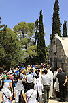 Israel, Mount Tabor, the ceremony at the Descentibus Chapel on the Feast of the Transfiguration