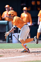 Tennessee Volunteers second baseman Jeff Moberg (6) swings at a pitch during a game against the South Carolina Gamecocks at Lindsey Nelson Stadium on March 18, 2017 in Knoxville, Tennessee. The Gamecocks defeated Volunteers 6-5. (Tony Farlow/Four Seam Images)