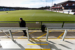 View from The Tin Shed Stand at Blackwell Meadows. Darlington 1883 v Southport, National League North, 16th February 2019. The reborn Darlington 1883 share a ground with the town's Rugby Union club. <br />
