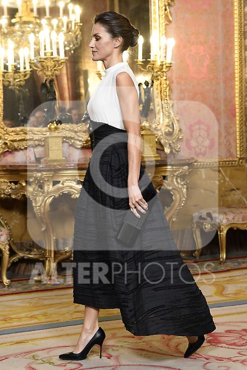Queen Letizia of Spain receives COP25 participants at the Royal Palace. December 2,2019. (ALTERPHOTOS/Pool/Carlos Alvarez)
