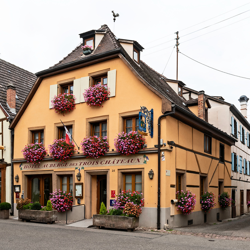 The Auberge des Trois Châteaux in Eguisheim