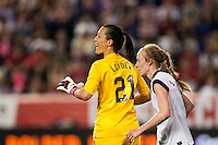 United States (USA) goalkeeper Jill Loyden (21). The women's national team of the United States defeated the Korea Republic 5-0 during an international friendly at Red Bull Arena in Harrison, NJ, on June 20, 2013.