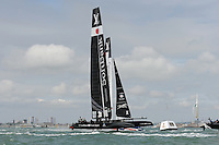 SoftBank Team Japan in action during day two of the Louis Vuitton America's Cup World Series racing, Portsmouth, United Kingdom. (Photo by Rob Munro/Stewart Communications)