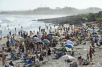 URUGUAY Beach La Barra with view to Punta del Este