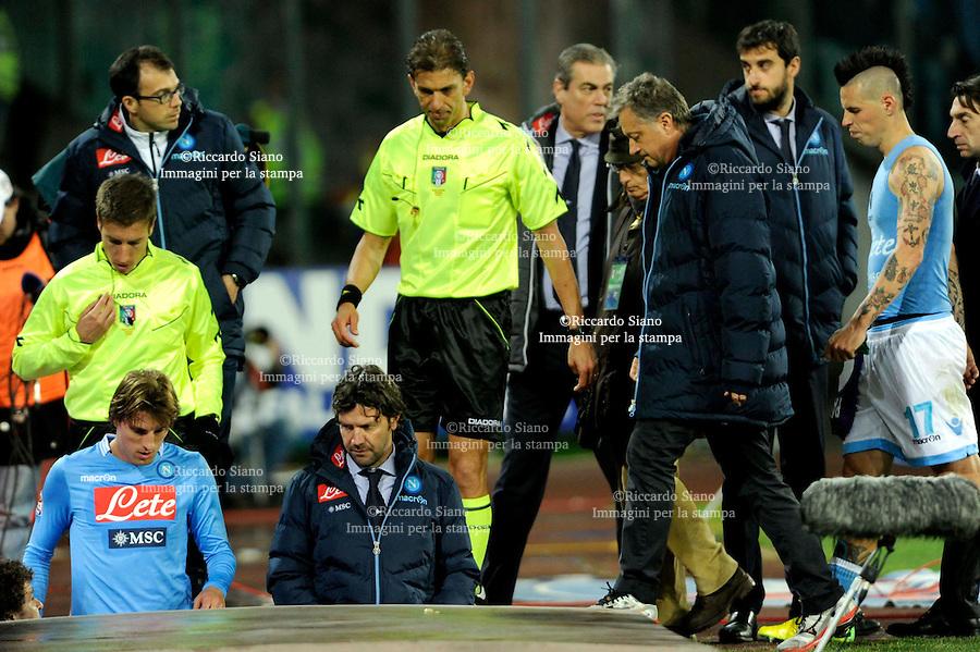 - NAPOLI 23 MAR  -  Stadio San Paolo    Napoli -  Fiorentina<br />  nella foto  tagliavento