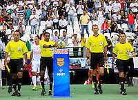 MANIZALES -COLOMBIA, 06-04-2014. Imer Machado, arbitro, durante partido Once Caldas y Independiente Santa Fe por la fecha 15 de la Liga Postobón I 2014 jugado en el estadio Palogrande de la ciudad de Manizales./  Imer Machado, referee Once Caldas and Independiente Santa Fe during match for the 15th date of the Postobon  League I 2014 at Palogrande stadium in Manizales city. Photo: VizzorImage/Santiago Osorio/STR