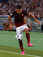 Calcio, Champions League, Gruppo E: Roma vs Barcellona. Roma, stadio Olimpico, 16 settembre 2015.<br /> Roma's Iago Falque in action during a Champions League, Group E football match between Roma and FC Barcelona, at Rome's Olympic stadium, 16 September 2015.<br /> UPDATE IMAGES PRESS/Riccardo De Luca<br /> <br /> *** ITALY AND GERMANY OUT ***