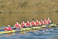 150 SEN.8+ Oxford Brookes Univ A..Reading University Boat Club Head of the River 2012. Eights only. 4.6Km downstream on the Thames form Dreadnaught Reach and Pipers Island, Reading. Saturday 25 February 2012.