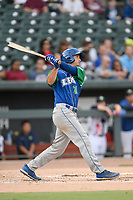 First baseman Reed Rohlman (21) of the Lexington Legends bats in a game against Columbia Fireflies on Thursday, June 13, 2019, at Segra Park in Columbia, South Carolina. Lexington won, 10-5. (Tom Priddy/Four Seam Images)