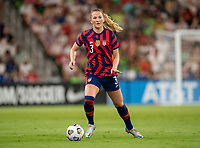 AUSTIN, TX - JUNE 16: Samantha Mewis #3 of the USWNT dribbles during a game between Nigeria and USWNT at Q2 Stadium on June 16, 2021 in Austin, Texas.