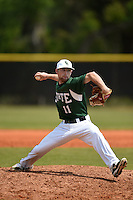 Farmingdale State Rams Kevin Martinez during a game against the U-Mass Boston Beacons at North Charlotte Regional Park on March 19, 2015 in Port Charlotte, Florida.  U-Mass Boston defeated Farmingdale 9-5.  (Mike Janes/Four Seam Images)