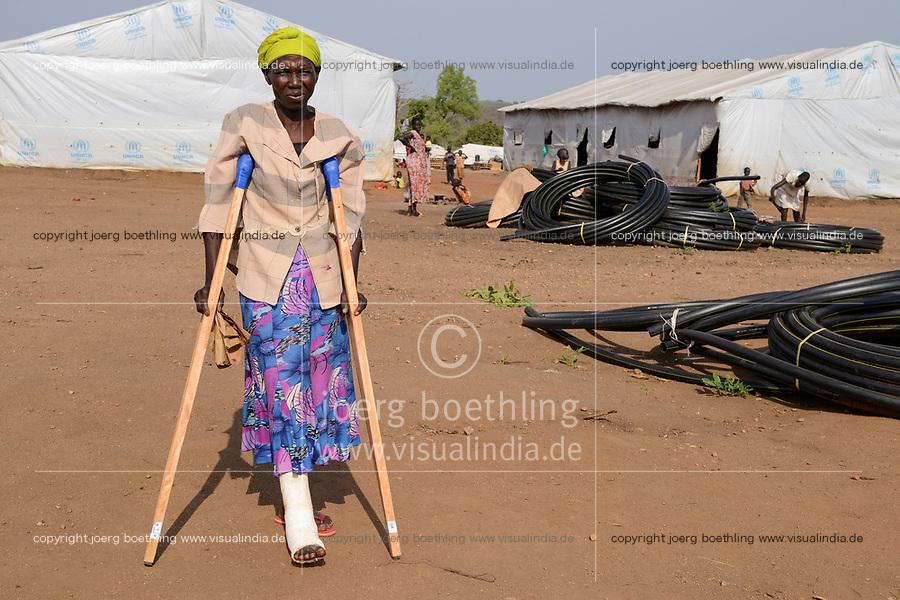 UGANDA, Arua, Yumbe, south sudanese refugees in Bidi Bidi refugee settlement / suedsudanesische Fluechtlinge im Fluechtlingslager Bidi Bidi, Rebecca Nyanci