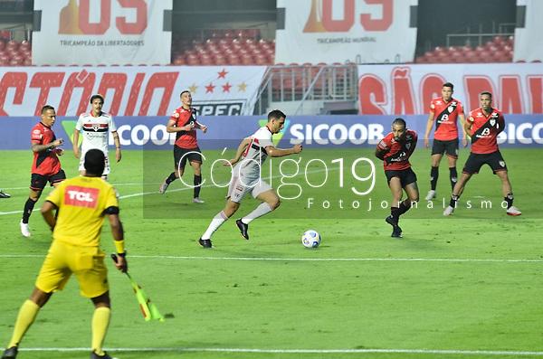 São Paulo (SP), 19/09/2021 - SÃO PAULO-ATLETICO GO - Jonathan Calleri, do São Paulo. São Paulo e Atlético-GO, a partida é válida pela 21ª rodada do Campeonato Brasileiro 2021, no estádio do Morumbi, neste domingo (19).