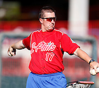 August 1, 2009:  Manager Steve Roadcap of the Reading Phillies during a game at Jerry Uht Park in Erie, PA.  Reading is the Eastern League Double-A affiliate of the Philadelphia Phillies.  Photo By Mike Janes/Four Seam Images