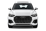 Car photography straight front view of a 2021 Audi Q5-Sportback S-Line 5 Door SUV Front View
