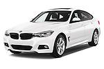 2015 BMW 3 Series M Sport 5 Door Hatchback 2WD Angular Front stock photos of front three quarter view