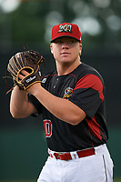 Batavia Muckdogs pitcher Taylor Braley (10) poses for a photo before a game against the Williamsport Crosscutters on August 3, 2017 at Dwyer Stadium in Batavia, New York.  Williamsport defeated Batavia 2-1.  (Mike Janes/Four Seam Images)