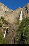 Yosemite Falls from John Muir Cabin Site in March, Yosemite National Park