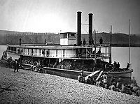 Transport steamer Missionary on Tennessee River, ca.  1863.  (War Dept.)<br /> Exact Date Shot Unknown<br /> NARA FILE #:  165-C-647A<br /> WAR & CONFLICT BOOK #:  204