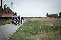 Niki Terpstra (NED/Total - Direct Energie) pulling hard in front of the peloton. <br /> <br /> GP Marcel Kint 2019<br /> One Day Race: Kortrijk – Zwevegem 188.10km. (UCI 1.1)<br /> Bingoal Cycling Cup 2019