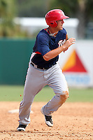 Washington Nationals third baseman Matt Skole #10 during an Instructional League game against the Houston Astros at Osceola County Stadium on September 26, 2011 in Kissimmee, Florida.  (Mike Janes/Four Seam Images)