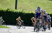 Pieter Serry (BEL/Deceuninck-Quickstep) setting the race line descending from the first climb of the day: the Colle Gallo<br /> <br /> 114th Il Lombardia 2020 (1.UWT)<br /> 1 day race from Bergamo to Como (ITA/231km) <br /> <br /> ©kramon