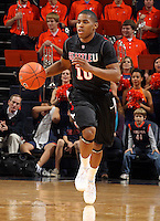 Dec. 22, 2010; Charlottesville, VA, USA; Seattle Redhawks guard Sterling Carter (10) drives down court during the game against the Virginia Cavaliers at the John Paul Jones Arena. Mandatory Credit: Andrew Shurtleff