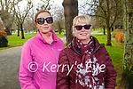 Shannon Ronan (left) and Tara Nolan enjoying a stroll in the Tralee town park on Thursday.