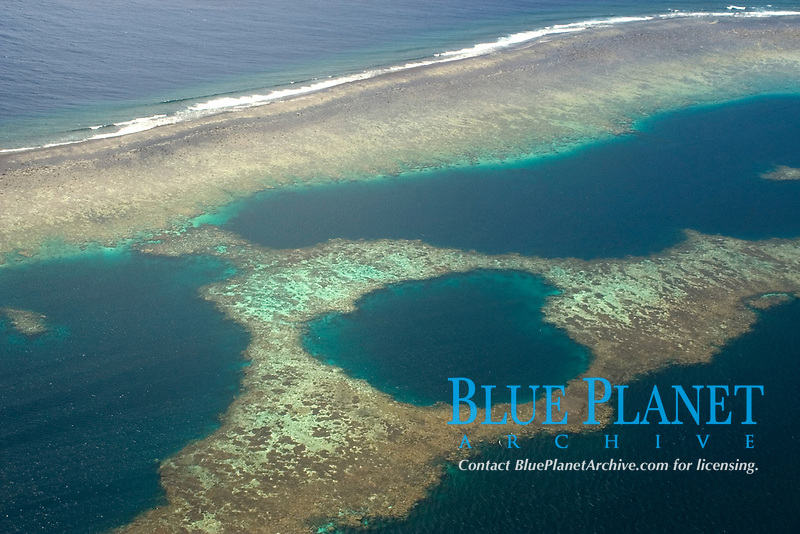 Atoll formation with barrier reef, Chuuk, Federated States of Micronesia, Pacific Ocean