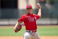 Philadelphia Phillies pitcher Anton Kuznetsov during an Extended Spring Training game against the New York Yankees on June 22, 2021 at the Carpenter Complex in Clearwater, Florida. (Mike Janes/Four Seam Images)