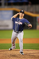 New Hampshire Fisher Cats relief pitcher Jason Berken (18) during a game against the Harrisburg Senators on June 2, 2016 at FNB Field in Harrisburg, Pennsylvania.  New Hampshire defeated Harrisburg 2-1.  (Mike Janes/Four Seam Images)