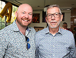 Shane Marshall Brown and Sam Rudy attends the Retirement Celebration for Sam Rudy at Rosie's Theater Kids on July 17, 2019 in New York City.