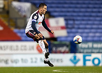 Bolton Wanderers' Antoni Sarcevic controlling the ball in the air<br /> <br /> Photographer Andrew Kearns/CameraSport<br /> <br /> The EFL Sky Bet League Two - Bolton Wanderers v Salford City - Friday 13th November 2020 - University of Bolton Stadium - Bolton<br /> <br /> World Copyright © 2020 CameraSport. All rights reserved. 43 Linden Ave. Countesthorpe. Leicester. England. LE8 5PG - Tel: +44 (0) 116 277 4147 - admin@camerasport.com - www.camerasport.com