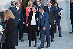 Uxue Barkos, president os Navarra, and Miguel Angel Revilla, president of Cantabria at the meeting with the Presidents of 17 autonomous governments at the Senate in Madrid, January  17, 2017. (ALTERPHOTOS/Rodrigo Jimenez)
