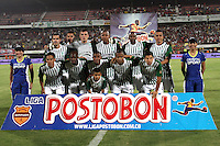 CUCUTA - COLOMBIA - 01-06-2013: Los jugadores del Atletico Nacional, posan para una foto durante partido disputado en el estadio General Santander de la ciudad de Cucuta, junio 1 de 2013. Cucuta Deportivo y Atletico Nacional en partido por la fecha 18 de la Liga Postobon I. (Foto: VizzorImage / Manuel Hernandez / Str.)<br /> The players of Atletico Nacional in pose for a photo during match at the General Santander Stadium in Cucuta city, June 1, 2013. Cucuta Deportivo and Atletico Nacional in match 18 of the date for the Postobon League I. (Photo VizzorImage / Manuel Hernandez / Str.)