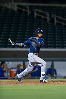 AZL Brewers shortstop Yeison Coca (7) bats during a game against the AZL Cubs on August 6, 2017 at Sloan Park in Mesa, Arizona. AZL Cubs defeated the AZL Brewers 8-7. (Zachary Lucy/Four Seam Images)