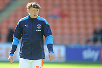 Blackpool's Nathan Shaw during the pre-match warm-up <br /> <br /> Photographer Kevin Barnes/CameraSport<br /> <br /> The EFL Sky Bet League One - Blackpool v Swindon Town - Saturday 19th September 2020 - Bloomfield Road - Blackpool<br /> <br /> World Copyright © 2020 CameraSport. All rights reserved. 43 Linden Ave. Countesthorpe. Leicester. England. LE8 5PG - Tel: +44 (0) 116 277 4147 - admin@camerasport.com - www.camerasport.com