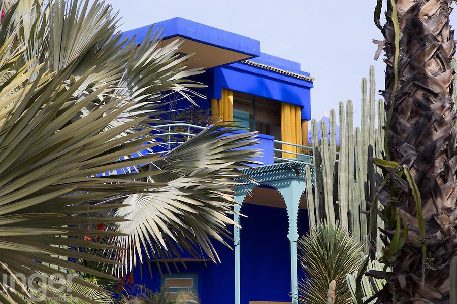 The house of Yves Saint Laurent at the Majorelle Garden, Marrakech, Morocco