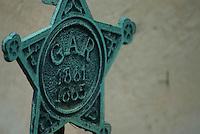 A Civil War veteran's grave marker in an Ohio cemetery.<br />