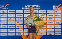 Amstelveen, Netherlands, 10 Juli, 2021, National Tennis Center, NTC, Amstelveen Womans Open, Singles final:  Winner Quirine Lemoine (NED)<br /> Photo: Henk Koster/tennisimages.com