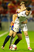 Spain's Alvaro Odriozola (l) and Albania's Azdren Llullaku during FIFA World Cup 2018 Qualifying Round match. October 6,2017.(ALTERPHOTOS/Acero) /NortePhoto.com /NortePhoto.com