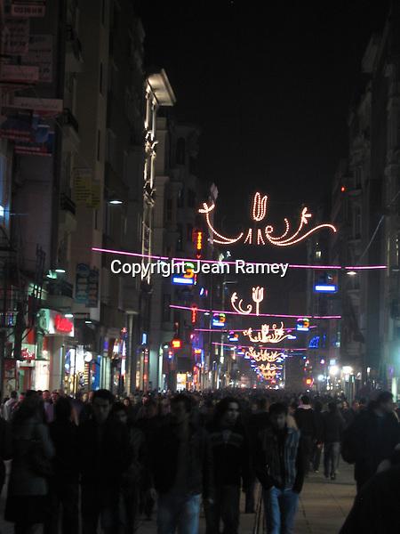 Nightlife on Istiklal Street, Istanbul