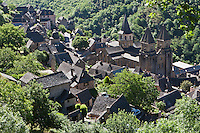 Europe/France/Midi-Pyrénées/12/Aveyron/Conques: Le village et l'abbatiale Sainte-Foy