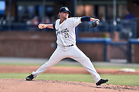 Asheville Tourists starting pitcher Trey Killian (21) delivers a pitch during a game against the Columbia Fireflies at McCormick Field on June 17, 2016 in Asheville, North Carolina. The Tourists defeated the Fireflies 6-2. (Tony Farlow/Four Seam Images)