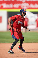 Portland Sea Dogs center fielder Henry Ramos (21) during practice before a game against the Reading Fightin Phils on May 31, 2016 at Hadlock Field in Portland, Maine.  Reading defeated Portland 6-4.  (Mike Janes/Four Seam Images)