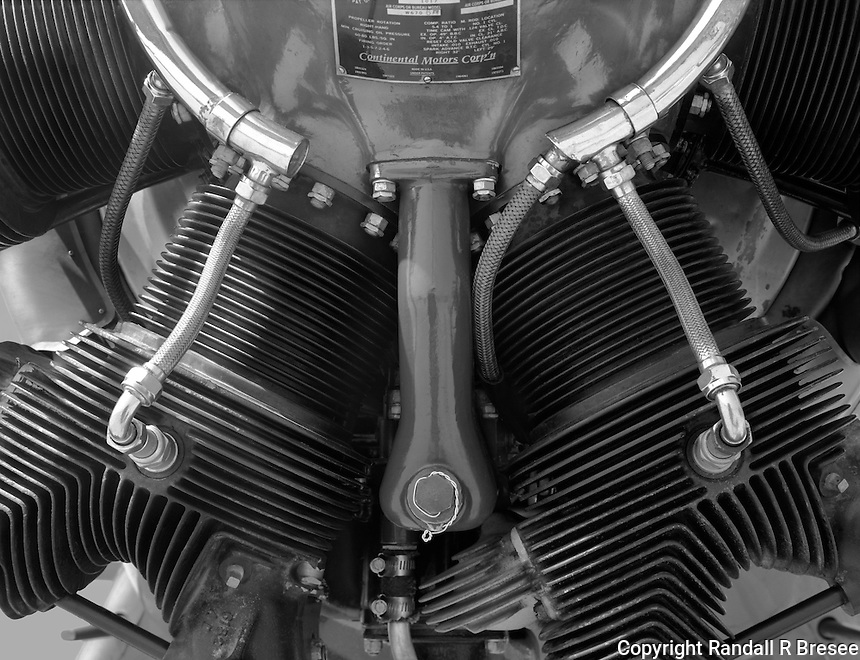 """""""Engine of PT-17 Stearman Airplane""""<br /> 2012 Salute to Veterans Airshow, Columbia, Missouri <br /> <br /> The engine of Rod Hightower's PT-17 Stearman is shown in this photograph. The photo was taken during the 2012 Memorial Day """"Salute to Veterans"""" airshow in Columbia, Missouri."""