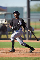 Chicago White Sox Franklin Reyes (40) during an Instructional League game against the Los Angeles Dodgers on October 15, 2016 at the Camelback Ranch Complex in Glendale, Arizona.  (Mike Janes/Four Seam Images)