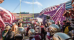 The Florida State Seminoles take the field against the Florida Gators. The Florida State Seminoles defeated the Florida Gators 24-19 in an NCAA football game in Tallahassee, November 29, 2014.