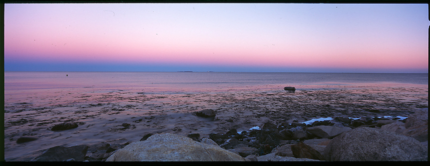 Pre dawn light over the Isles of Shoals, from, Rye, New Hampshire, Photograph by Peter e. Randall